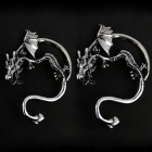 Exotic Dragon Shaped Alloy Earring - Silver (2 PCS)