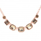 NC-5363 Women's Fashionable Zinc Alloy Rhinestone Ornament Necklace - Rose Gold