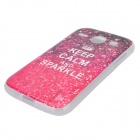 """KEEP CALM AND SPARKLE"" Pattern Protective TPU Back Case for Samsung Galaxy Core i8262"