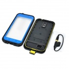 Protective PVC Waterproof Dustproof Drop Resistance Case for Samsung S4 i9500 - Black + Deep Blue
