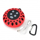 Round Shaped Waterproof Bluetooth V3.0 1.0-CH Speaker w/ Microphone - Red