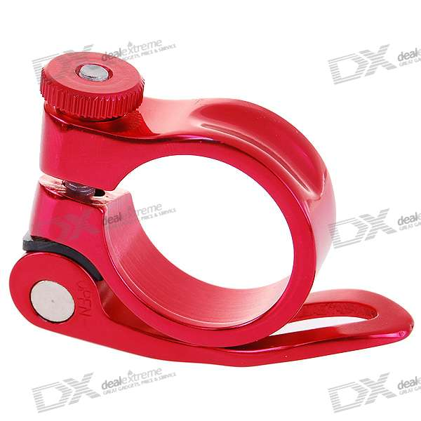 Aluminium Alloy Bicycle Seat Post Clamp - Red (30.8mm Inner Diameter)