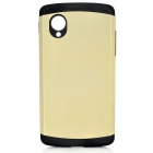 Fashionable Superior Slim Armor Protective Back Case for LG Nexus 5 - Golden + Black