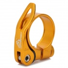Aluminium Alloy Bicycle Seat Post Clamp - Golden (30.8mm Inner Diameter)
