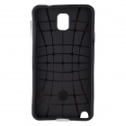 CM01 Protective Silicone + PC Back Case for Samsung Galaxy Note 3 - Black + White