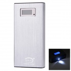 "BP L2K 1.0"" LCD ""20000mAh"" Dual USB Mobile Power Source w/ LED for IPHONE / Samsung - Silver White"