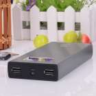 "BP L2K 1.0"" LCD ""20000mAh"" Dual USB Mobile Power Source w/ LED for IPHONE / Samsung - Grey + Black"