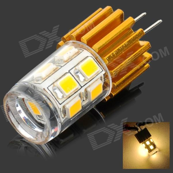 G4 2W 100lm 3500K 12-2835 SMD LED Warm White Lamp - White + Golden (DC 12V)