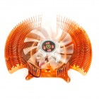 Copper Plating Video Display / Graphics Card Cooling Fan w/ Heatsink - Golden + Translucent
