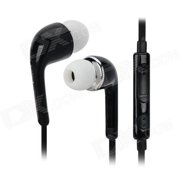 J5 3.5mm Jack In-Ear Earphone w/ Mic. for Samsung Galaxy S5 - Black
