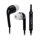 3.5mm In-Ear Style Earphone w/ Microphone for Samsung Galaxy S5 - Black (105cm)