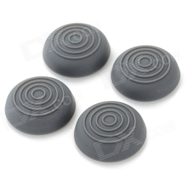 Silicone Thumb Grips Joystick Caps for Xbox One / Xbox 360 / PS4 / PS3 Controller - Grey (4 PCS) plastic 3d joystick caps for xbox one controller controller black white multicolored 15 pcs