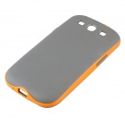 Fashionable Plastic + TPU Neo Hybird Case for Samsung Galaxy S3 i9300 - Orange + Grey