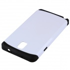 Fashionable PC and Silicone Hybrid Slim Armor Back Case for Samsung Galaxy Note 3 - White + Black