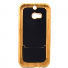 Camera Style Detachable Protective Bamboo Back Case for HTC ONE M8 - Yellow