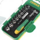 FEIBAO FB3012 22-in-1 Repairing Screwdriver Tool Set for Bike - Green + Yellow + Silver + Black