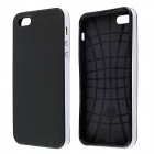 Protective Silicone and Plastic Case for IPHONE 5 / 5S - White + Black
