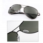 A078 Men's Polarized UV400 Protection PC Lens Sunglasses - Black + Deep Green