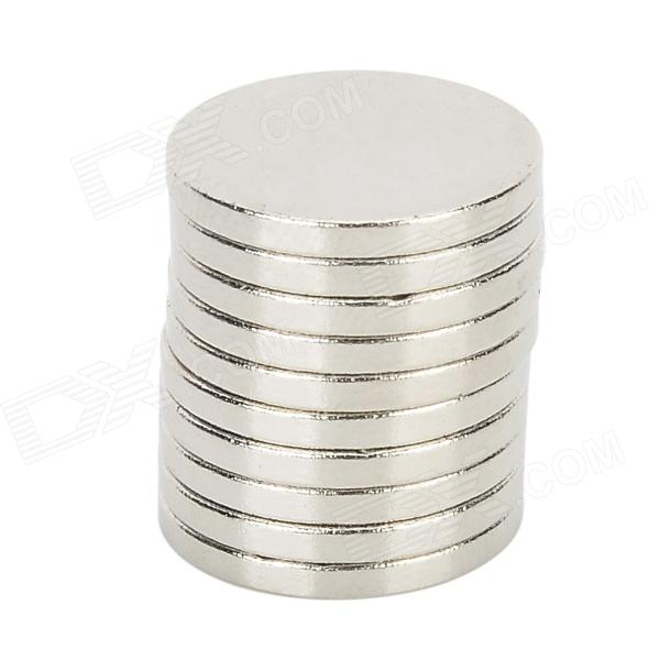 16 x 2mm Super Strong NdFeB Round Magnets - Silver (10 PCS)