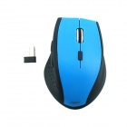PZ-18 2.4GHz Wireless Ergonomic Design 1600dpi LED Optical USB Mouse - Blue + Black