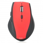 PZ-18 2.4GHz Wireless Ergonomic Design LED 1600dpi USB Optical Mouse  - Red + Black