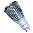 ZHISHUNJIA GU10 7W 420lm 3000K 1-COB LED Warm White Light Bulb - Silver + White (AC 85~265V)