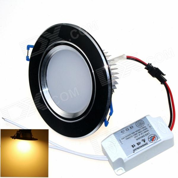 ZHISHUNJIA ZSJ8W-B 8W 600lm 3000K 16-SMD 5630 LED Warm White Ceiling Lamp - Black (AC 85~265V)