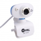 Jeway JW-5324 5.0MP HD 1080p Camera w/ Microphone for Laptop / Desktop Computer - Blue + White
