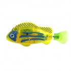 Electronic Magical Flash Pet Fish Toy w/ Plant + Screwdriver - Yellow