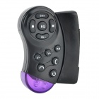 Car Wireless Steering Wheel Remote Controller - Black + Purple (1 x CR2025)