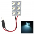 Hongyang D1 0.06W 0.03A 1800MCD 7500K 6-LED White Light Car Reading / Roof / Trunk Light (DC 12V)