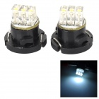 Hongyang 0.18W 3-LED Bluish White Light Car Dashboard Lamps (2PCS)
