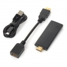 Dongle de HDMI WiFi con el varón de HDMI al cable femenino + cable de carga micro del USB - negro (256M)