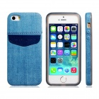 Denim Small Fresh Style TPU Soft Case for IPHONE 5 / 5S - Blue
