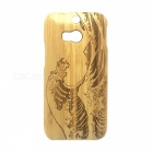 Wind Wave Pattern Detachable Protective Bamboo Back Case for HTC ONE M8 - Yellow