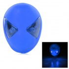 ET Style Rechargeable 2-LED 3-Mode Memory Blue Light Bike Tail Lamp - Deep Blue