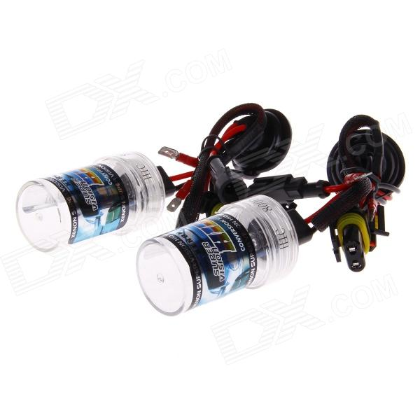 H1C 35W 3200lm 8000K Blue Light Car HID Xenon Lamp Bulbs - Transparent + Black