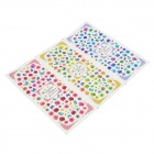 HOT-070-072 DIY 3-in-1 3D Nail Art Decoration Stickers - Multi-Colored
