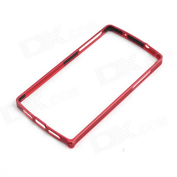 0.7mm Ultrathin Protective Aluminum Bumper Frame for LG Nexus 5 - Red
