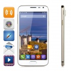 "JIAKE G900W Android 4.4.2 Quad-core WCDMA Bar Phone w/ 5.0"" Screen, Wi-Fi and GPS - White + Golden"