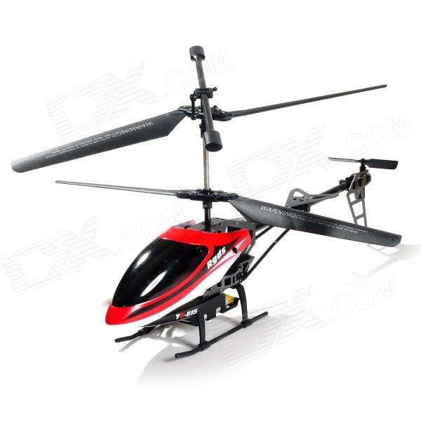 YD YD-615 49MHz Rechargeable Outdoor 3.5-CH R/C Helicopter w/ Gyroscope - Black + Red + Multicolored rechargeable wireless 3 ch control r c radio control helicopter with gyroscope
