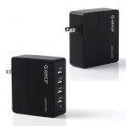 ORICO DCA-4U US Plugs 4-Port USB AC Power Charger Adapter for IPHONE / IPAD + More - Black