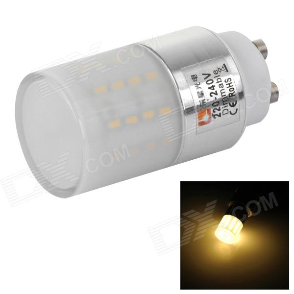 Lexing LX-YMD-106 4.5W GU10 280lm 3500K 50-SMD 3014 LED Warm White Lamp - White (AC 220~240V) lexing lx qp 20 e14 6w 470lm 3500k 15 5730 smd led warm white light dimmable lamp ac 220 240v