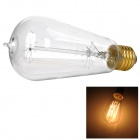 ST64 E27 40W 165lm 3000K Warm White Tungsten Wire Light Bulb - White + Bronze (AC 220~240V)