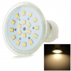 GU10 3W 260lm 3000K 18-SMD 2835 LED Warm White Lamp - White + Translucent White (AC 220~240V)