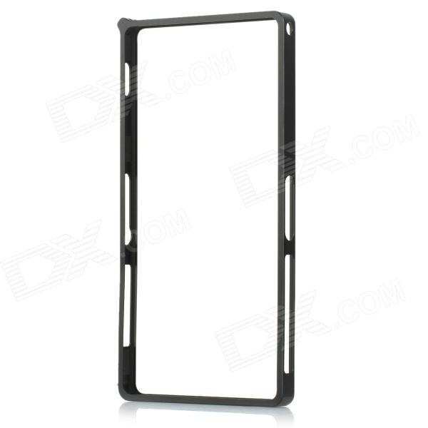 Protective Aluminum Alloy Bumper Frame Case for Sony Xperia Z2 - Black