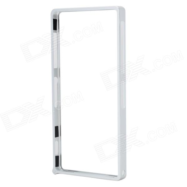 Protective Aluminum Alloy Bumper Frame Case for Sony Xperia Z2 - Silver