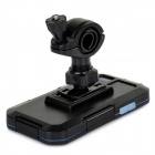 Bike Bicycle Mount Holder w/ Water / Shock Proof Protective Case for IPHONE 5 / 5S - Black