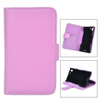Protective Flip Open Case w/ Stand / Card Slots for Sony Xperia Z1 / Xperia i1 / L39H - Purple
