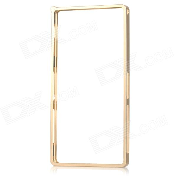 Protective Aluminum Alloy Bumper Frame Case for Sony Xperia Z2 - Champagne Gold protective aluminum alloy bumper frame case for sony xperia z2 champagne gold
